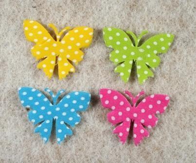 Deko Schmetterling Gepunktet Und Aus Filz Gestanzt