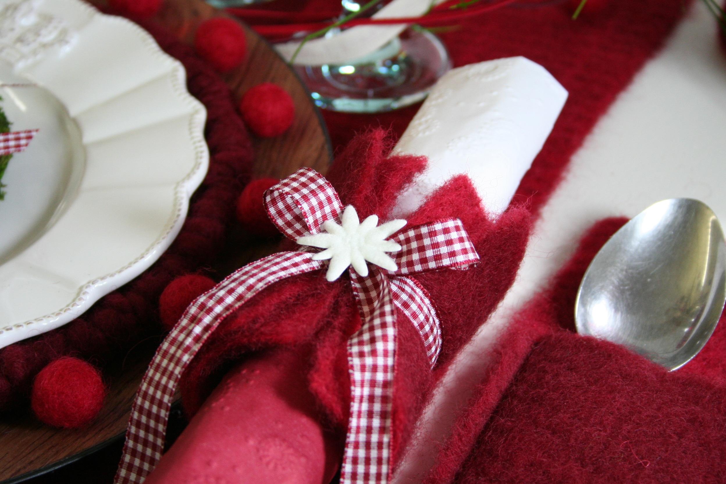 serviettenring aus wollvlies filzkordel discount. Black Bedroom Furniture Sets. Home Design Ideas