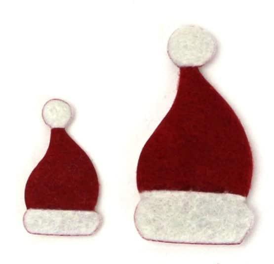 Zipfelmützen aus Filz - weihnachten, filzaccessoires