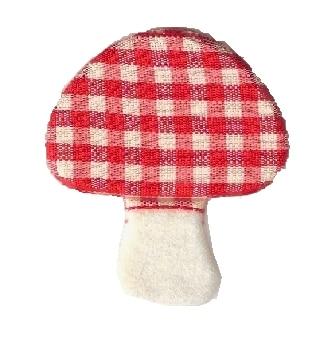 Karo-Pilze aus Filz gestanzt - filzaccessoires, everyday-filzaccessoires