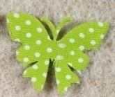 Deko-Schmetterling, gepunktet und aus Filz gestanzt - fruehjahr-filzaccessoires, filzaccessoires