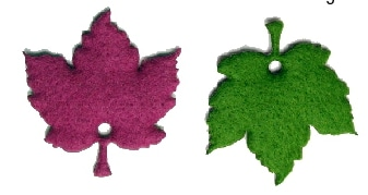 Ahornblätter, 2-farbig, aus Filz gestanzt - herbst-filzaccessoires, filzaccessoires, everyday-filzaccessoires