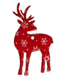 Deko-Hirsch Anhänger, aus Filz gestanzt - weihnachten, filzaccessoires, everyday-filzaccessoires