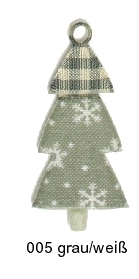 Deko-Anhänger Tannenbaum, aus Filz gestanzt - weihnachten, filzaccessoires