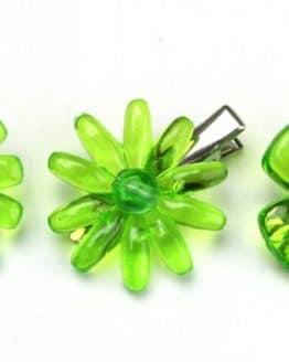 Blüte mit Clip, aus Acryl, 6 Stück - unkategorisiert
