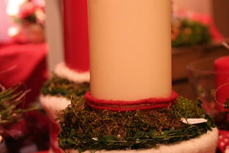 Schöne Adventsfloristik mit Wollvlies - wollvlies, weihnachtsdeko, filzdeko