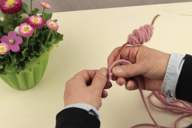 Blumen dekorieren wie die Floristen - wolldocht, fruhjahr