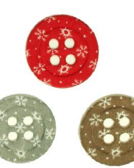 Big Button, aus Filz gestanzt - weihnachten, filzaccessoires