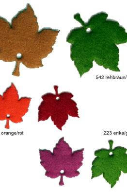 Deko Accessoires aus Filz - zweifarbige Ahornblätter 86218_2