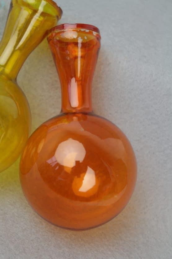 Glaskolben orange, ca. 11 cm - everyday-dekoaccessoires, dekoaccessoires