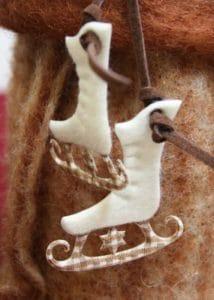 Accessoires zum Aufhängen - Schlittschuhe Filz