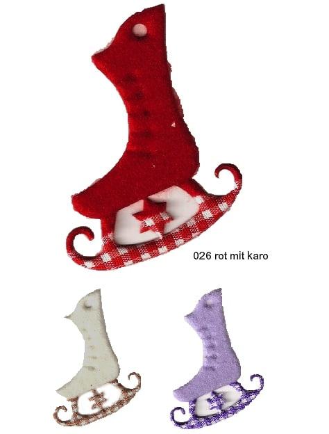 Deko-Schlittschuhe aus Filz gestanzt - weihnachten, filzaccessoires