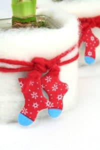 Weihnachts-Deko mit Hüttenschuh aus Filz
