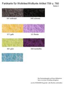 Farbkarte Wollvlies und Wolllunte - Seite 2