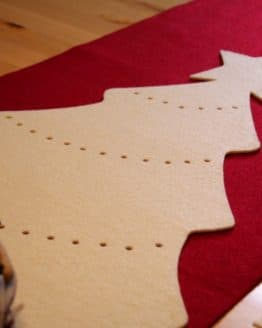 Tischläufer aus Filz, creme - weihnachten-tischdeko, tischdeko