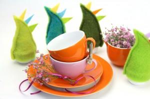 Frühling - Tischdeko mit selbstgemachten Eierwärmern