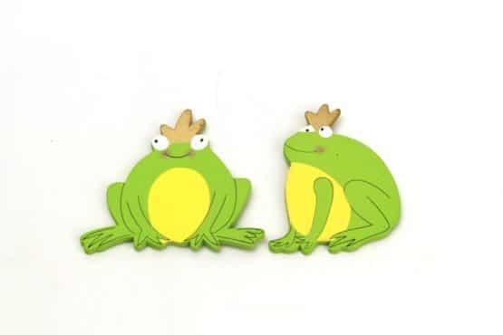 Froschkönig mit Magnet, 2 Stück - everyday-dekoaccessoires, dekoaccessoires