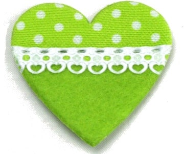 Herz mit Spitze, aus Filz + Stoff - filzaccessoires, everyday-filzaccessoires