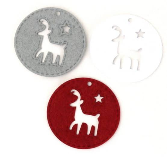 Filz-Medaillon, Rentier - weihnachten, filzaccessoires