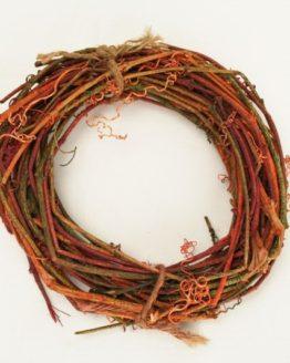 Weinrebenkranz rot-grün, ca. 15 cm - naturmaterial, dekoaccessoires
