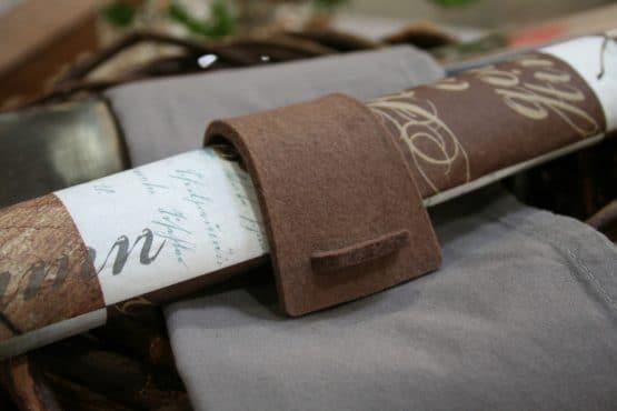 Serviettenring aus Filz, braun, 4 Stück - tischdeko, everyday-tischdeko