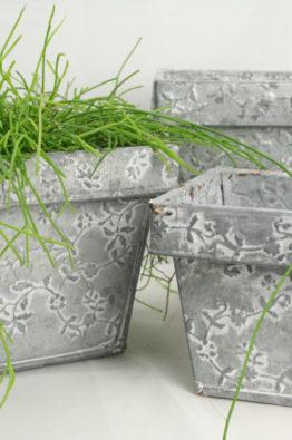Dekogefässe - Blumentöpfe aus Blech